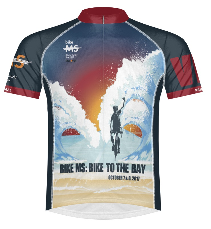 2017 PAE Bike MS Bike to the Bay Jersey Front