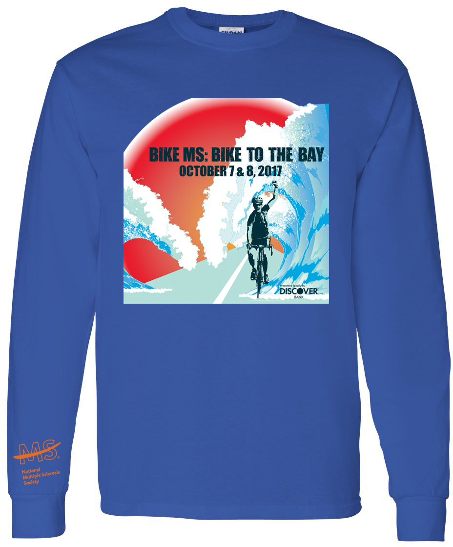 2017 PAE Bike MS Bike to the Bay Long Sleeve